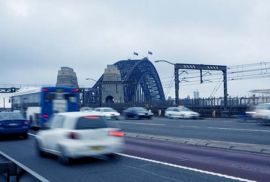 Picture of cars driving in Sydney