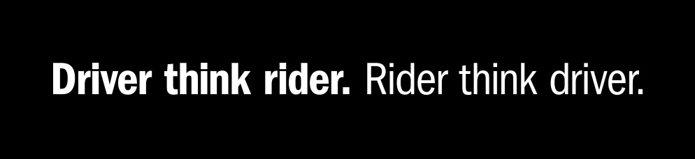 Driver look rider. Rider look driver