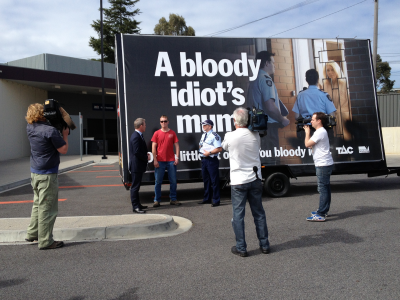 Boozebusted commercial and outdoor sign launch