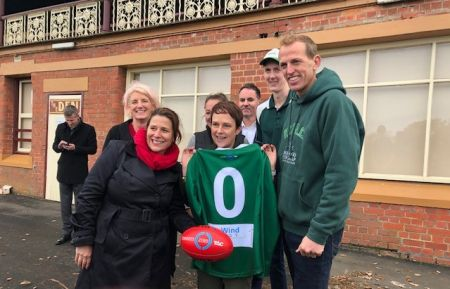Footy and netball clubs show support for road safety